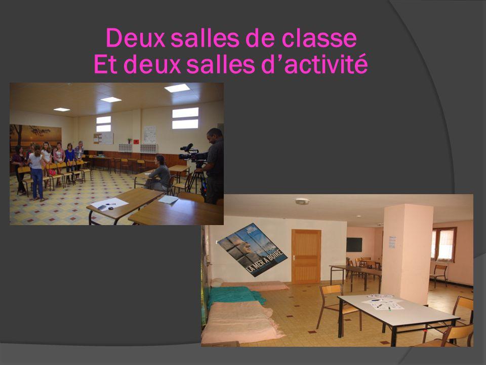 Deux salles de classe Et deux salles d'activité