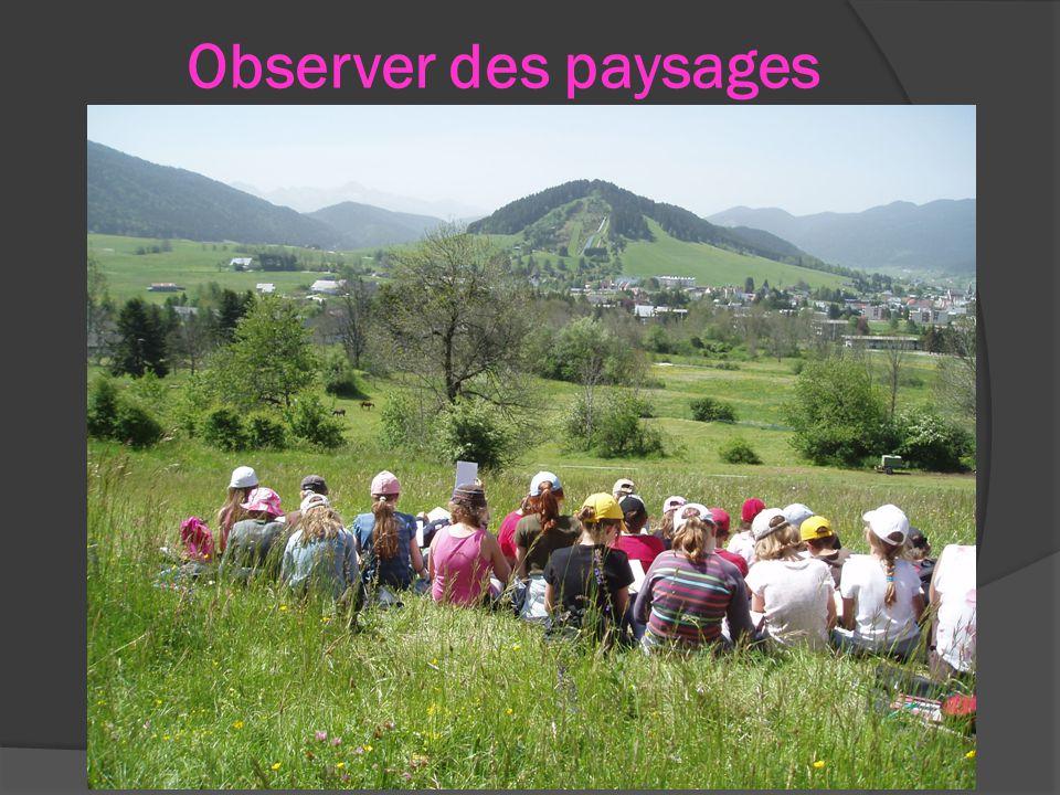 Observer des paysages