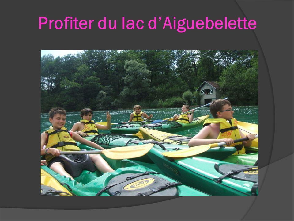 Profiter du lac d'Aiguebelette
