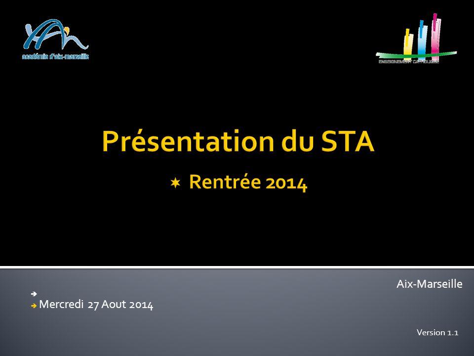 Aix-Marseille   Mercredi 27 Aout 2014 Version 1.1