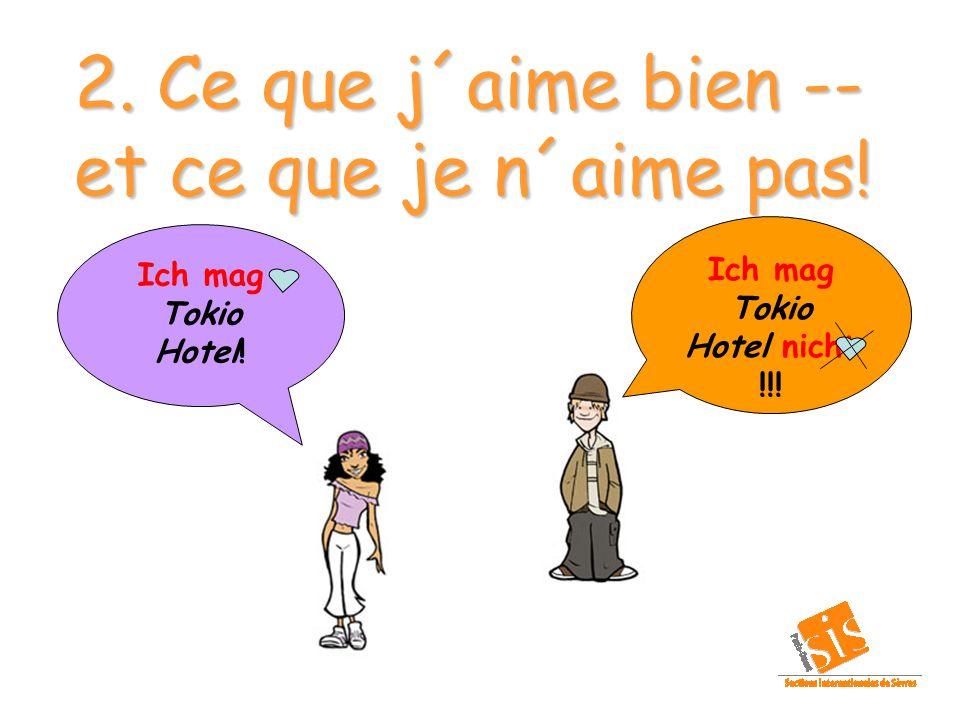 1. Se présenter…. Ich heiße… (ton prénom)...à toi !!