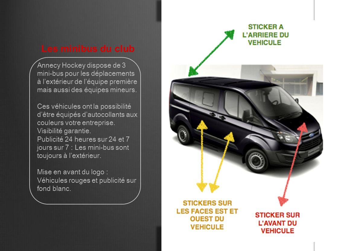 Les minibus du club Annecy Hockey dispose de 3 mini-bus pour les déplacements à l'extérieur de l'équipe première mais aussi des équipes mineurs. Ces v