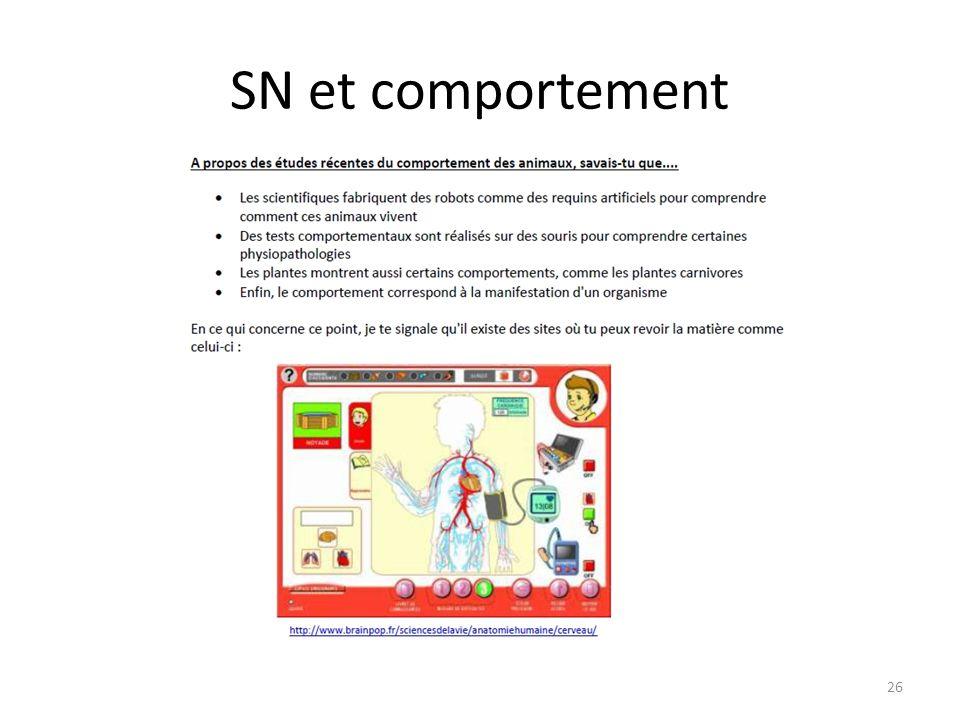 SN et comportement 26