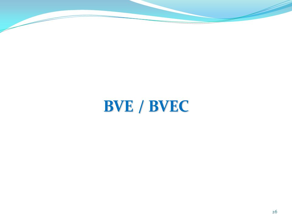 26 BVE / BVEC