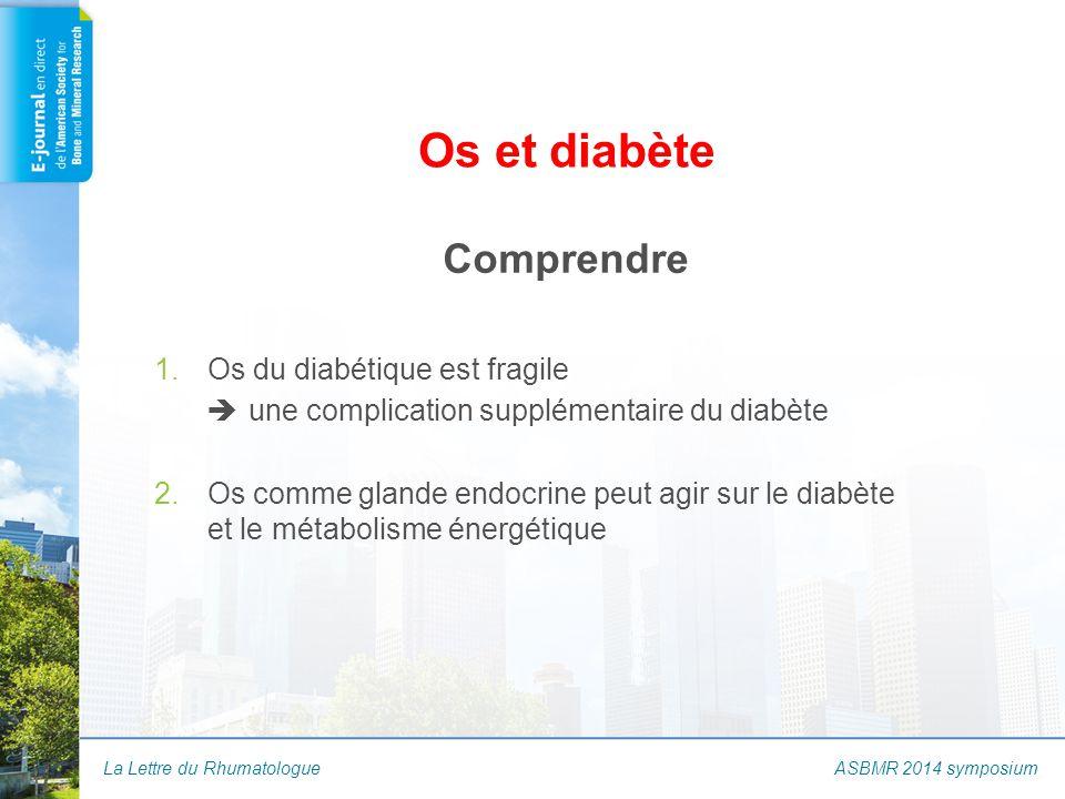 La Lettre du Rhumatologue Os et diabète Comprendre 1.Os du diabétique est fragile  une complication supplémentaire du diabète 2.Os comme glande endoc