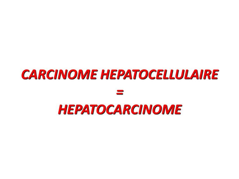 Épidémiologie C'est de loin la tumeur primitive du foie la plus fréquente.
