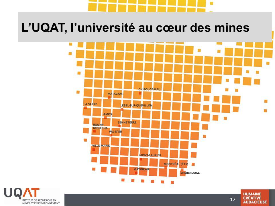 12 L'UQAT, l'université au cœur des mines