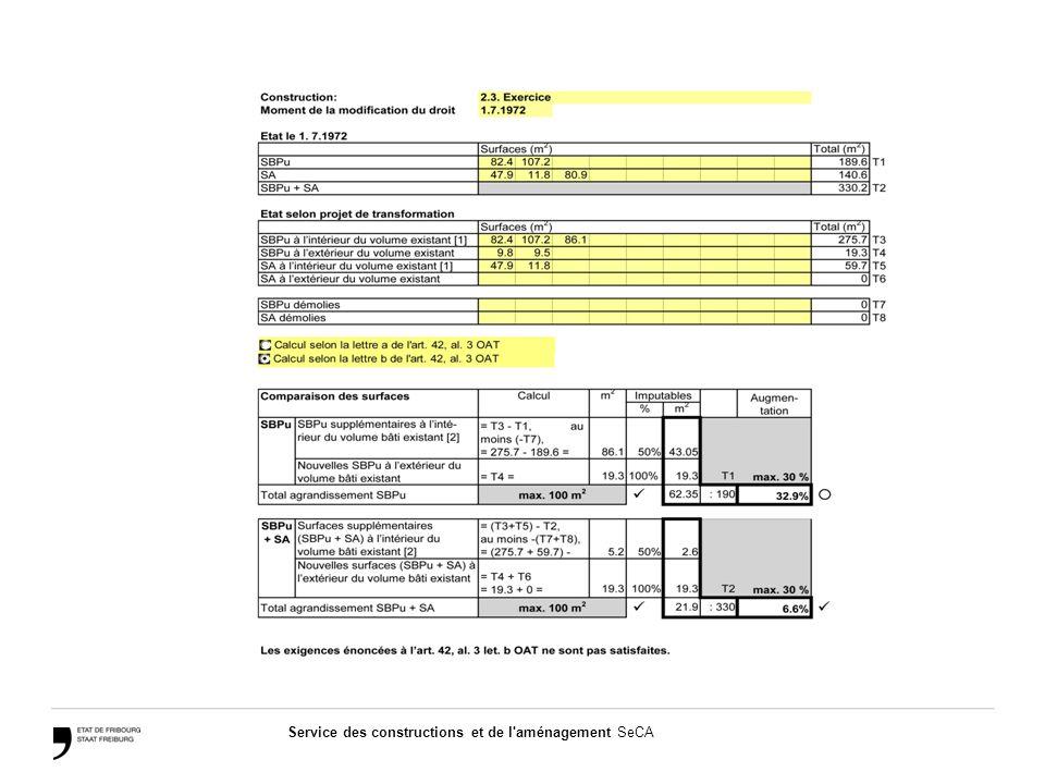 Service des constructions et de l aménagement SeCA