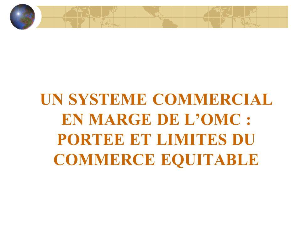 UN SYSTEME COMMERCIAL EN MARGE DE L'OMC : PORTEE ET LIMITES DU COMMERCE EQUITABLE