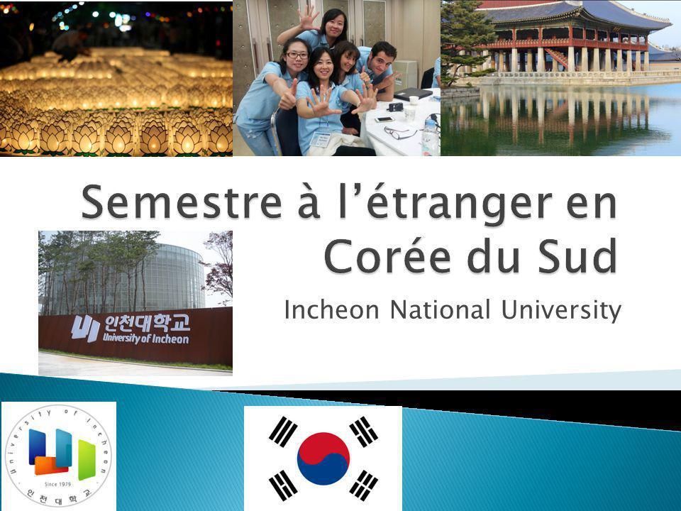  L'université et son programme  La vie en Corée du Sud