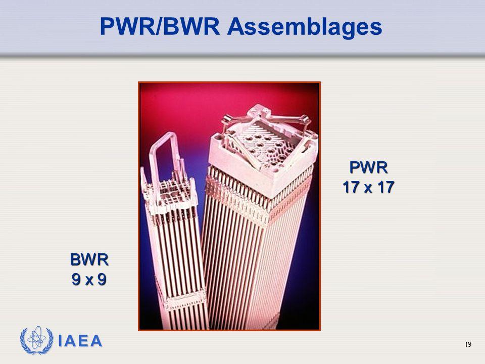 IAEA PWR/BWR Assemblages PWR 17 x 17 BWR 9 x 9 19