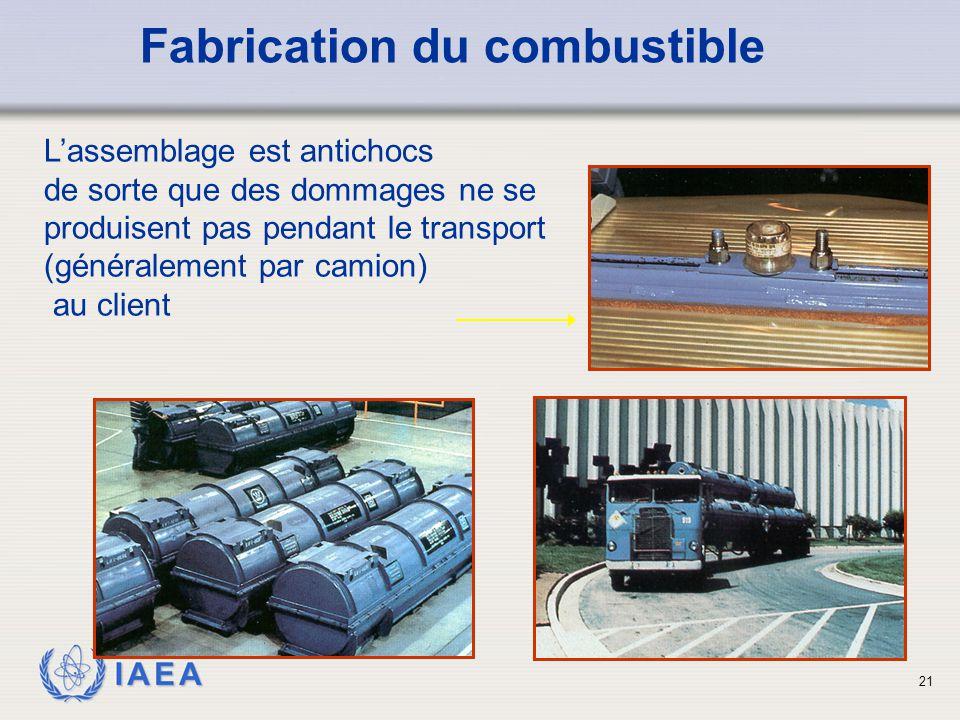 IAEA L'assemblage est antichocs de sorte que des dommages ne se produisent pas pendant le transport (généralement par camion) au client Fabrication du