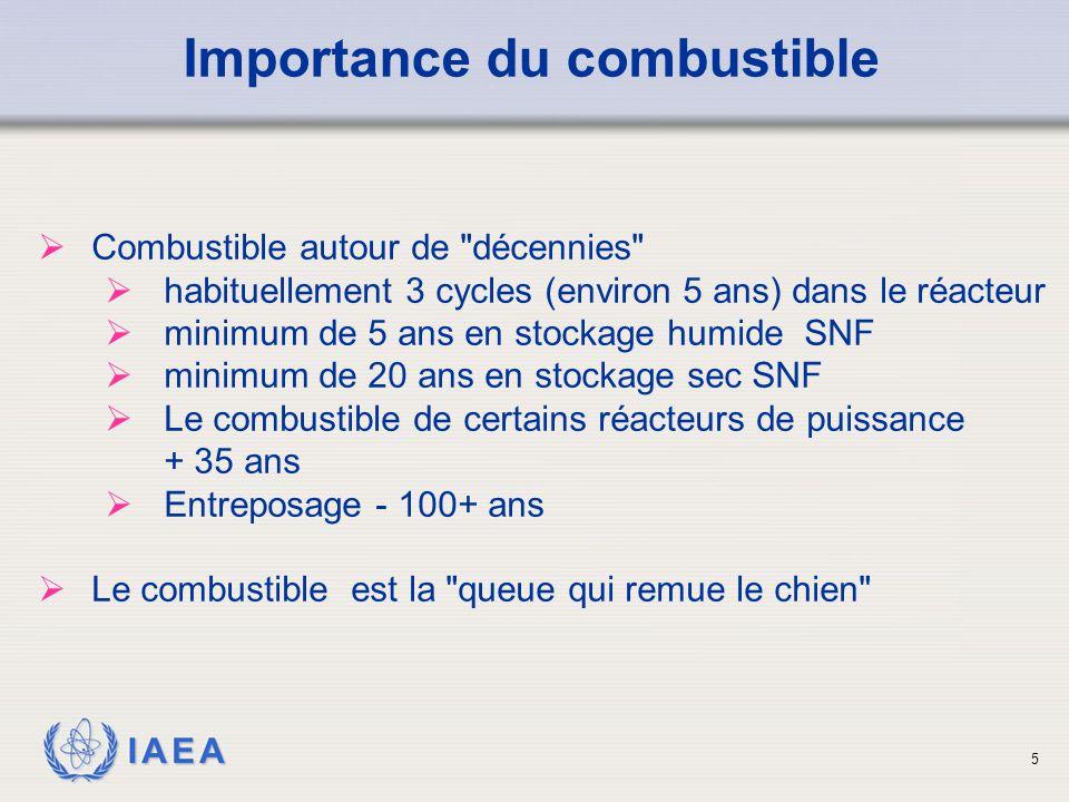 IAEA Importance du combustible  Combustible autour de