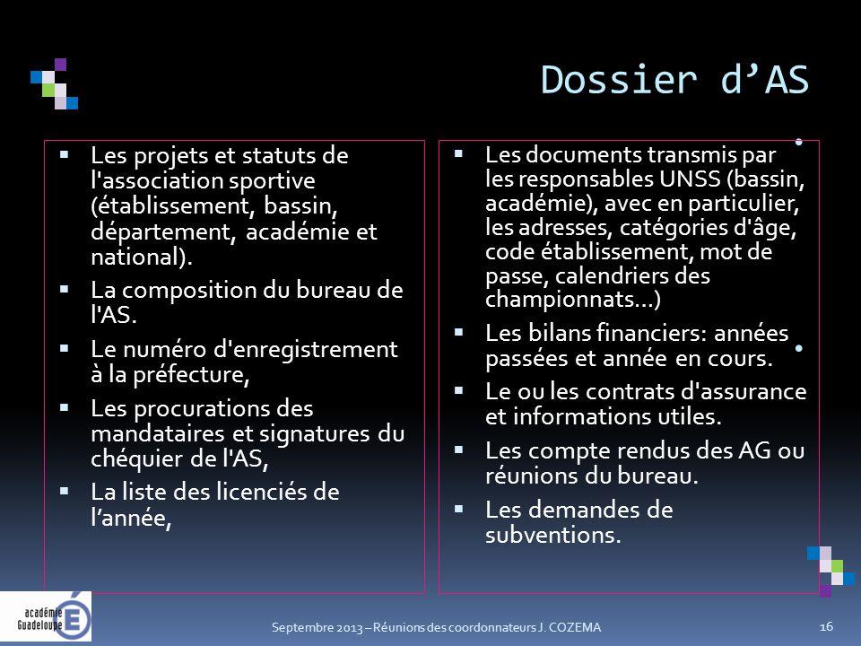 Dossier d'AS.