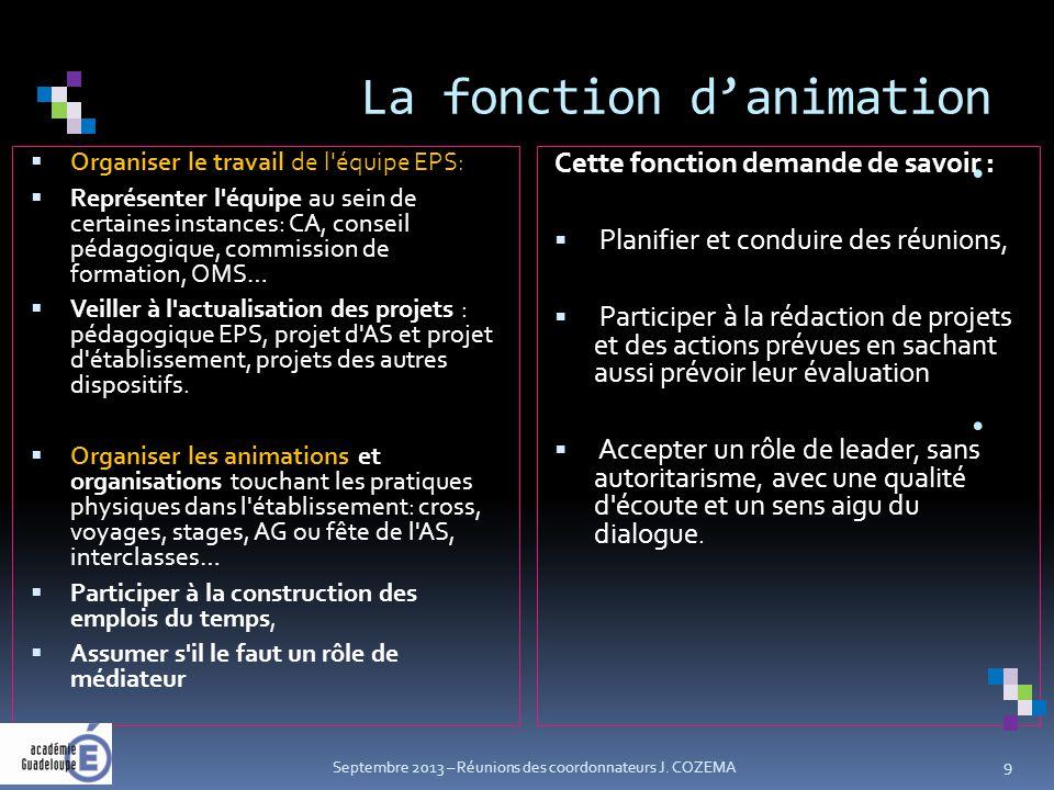La fonction d'animation.
