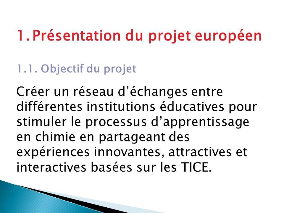 1.Présentation du projet européen 1.1.