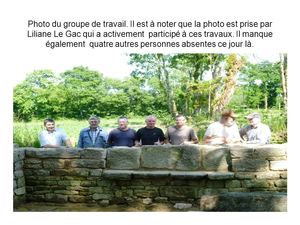 Photo du groupe de travail.