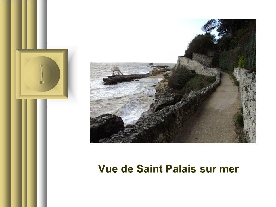 Vue de Saint Palais sur mer