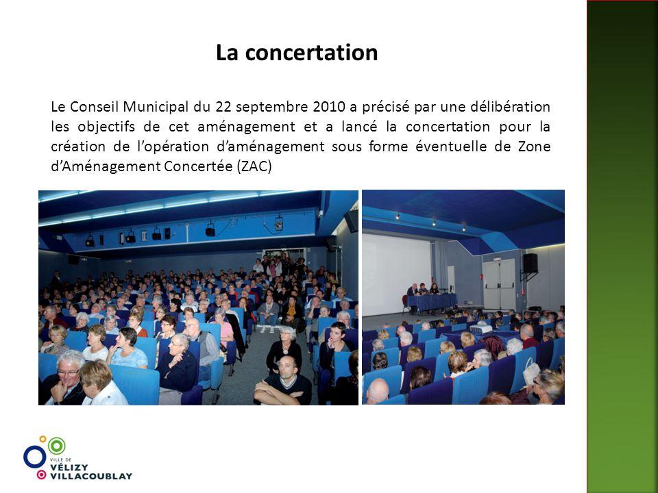 La concertation Le Conseil Municipal du 22 septembre 2010 a précisé par une délibération les objectifs de cet aménagement et a lancé la concertation p