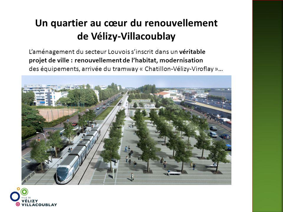 Un quartier au cœur du renouvellement de Vélizy-Villacoublay L'aménagement du secteur Louvois s'inscrit dans un véritable projet de ville : renouvelle