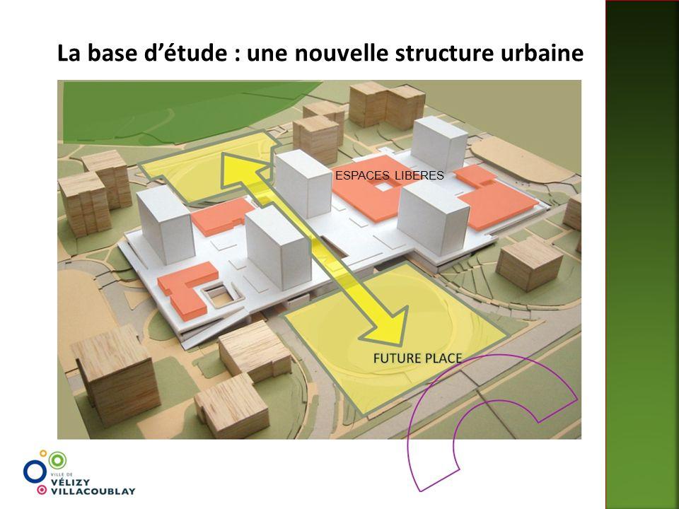La base d'étude : une nouvelle structure urbaine ESPACES LIBERES