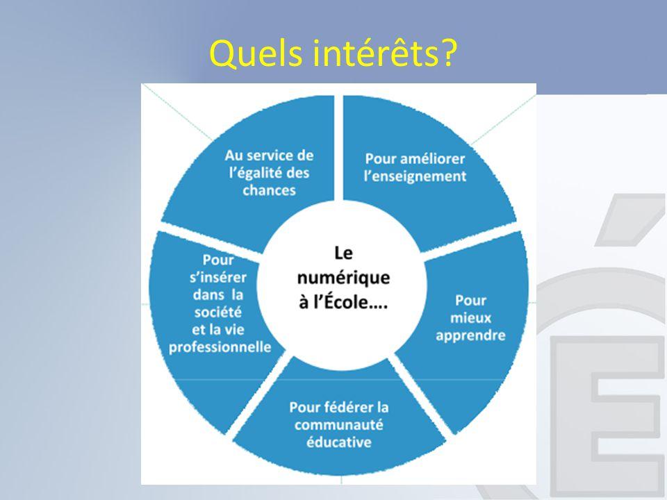 Pour les élèves Pour les enseignants Quels intérêts?
