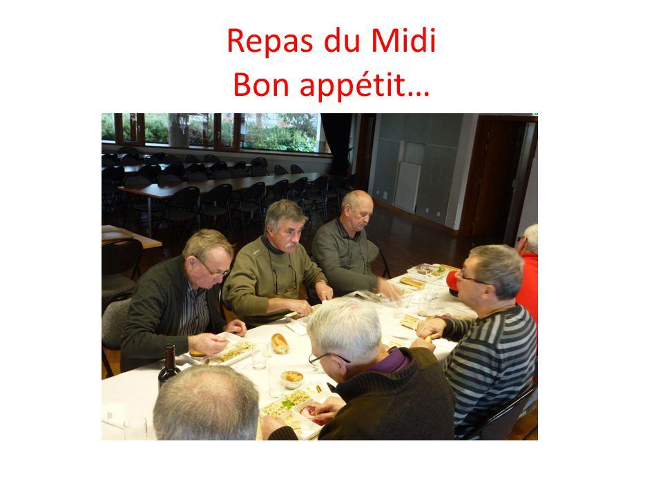 Repas du Midi Bon appétit…