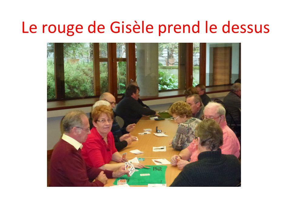 Le rouge de Gisèle prend le dessus