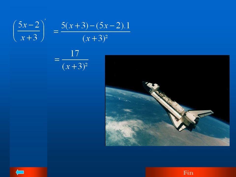 Exemples Dans la pratique, on n'écrira pas des expressions telles que (x+3)' et (2x-1)'