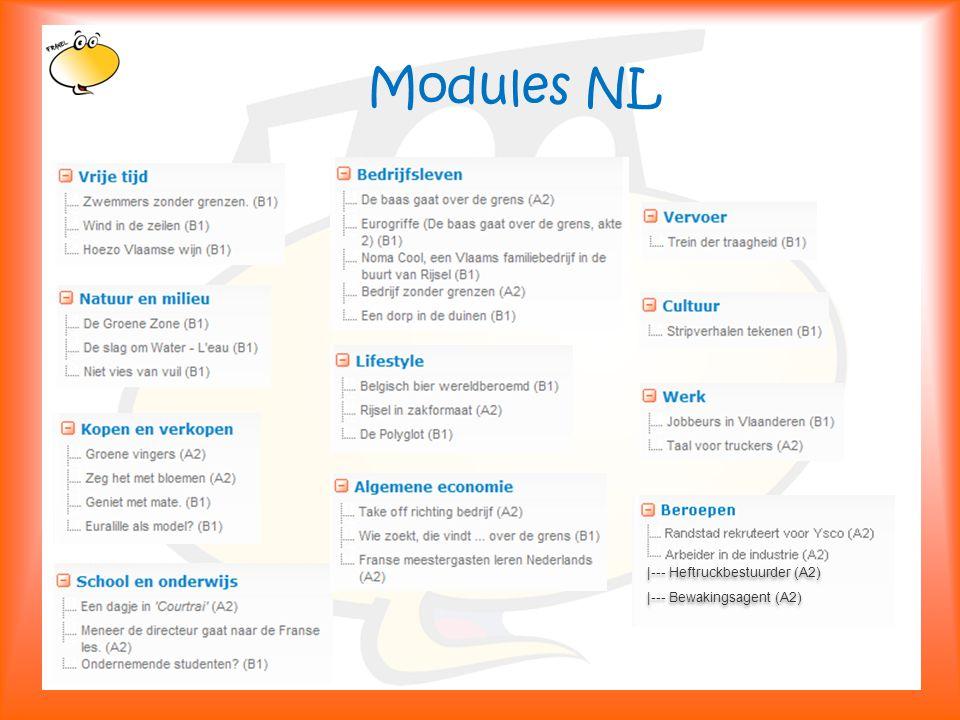 Klik om het opmaakprofiel te bewerken 11 Modules NL |--- Heftruckbestuurder (A2) |--- Bewakingsagent (A2) |--- Heftruckbestuurder (A2) |--- Bewakingsagent (A2)
