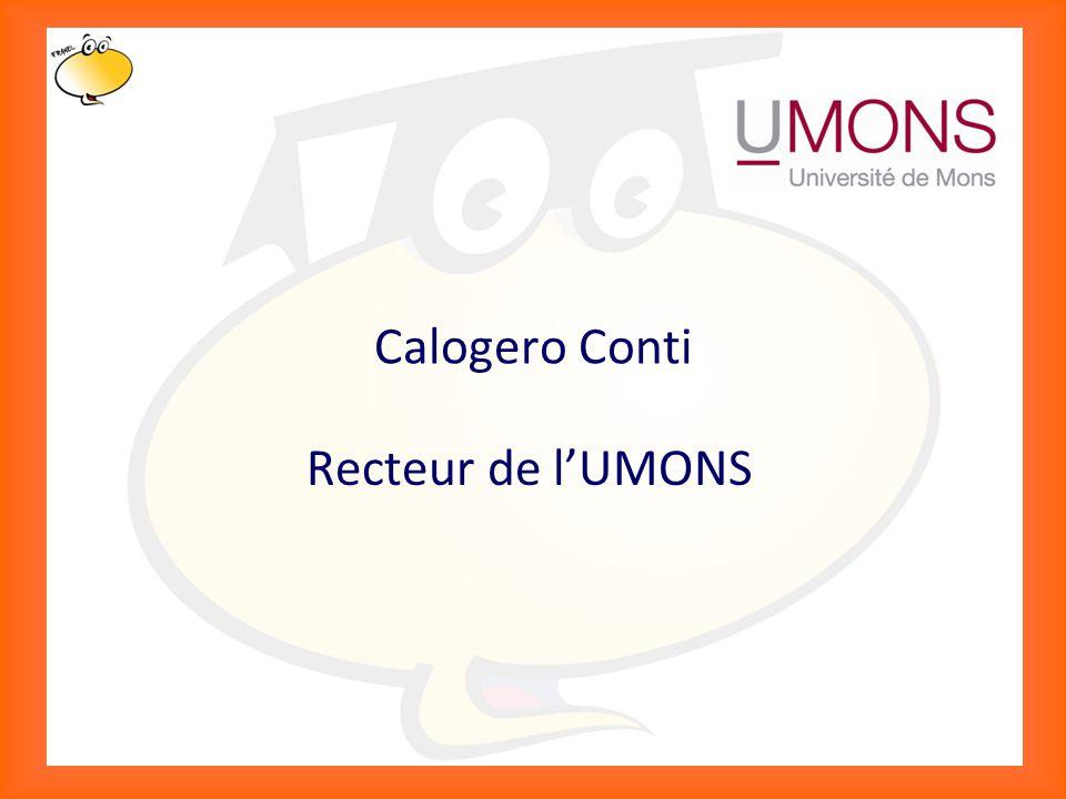 Klik om het opmaakprofiel te bewerken 2 Calogero Conti Recteur de l'UMONS