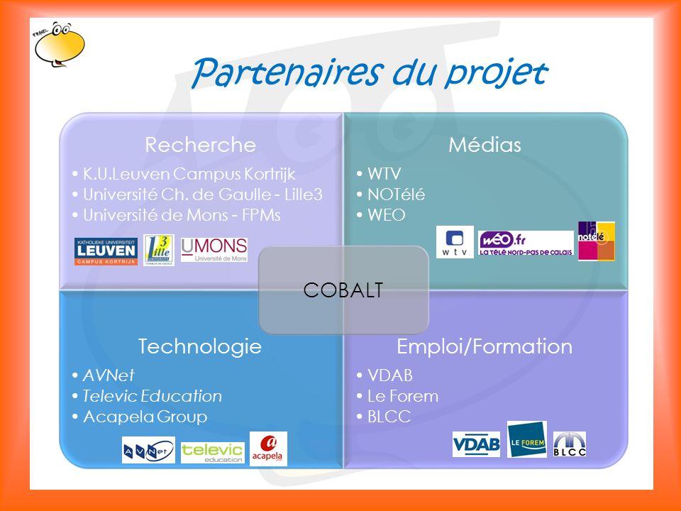 Klik om het opmaakprofiel te bewerken 7 Partenaires du projet Recherche K.U.Leuven Campus Kortrijk Université Ch.