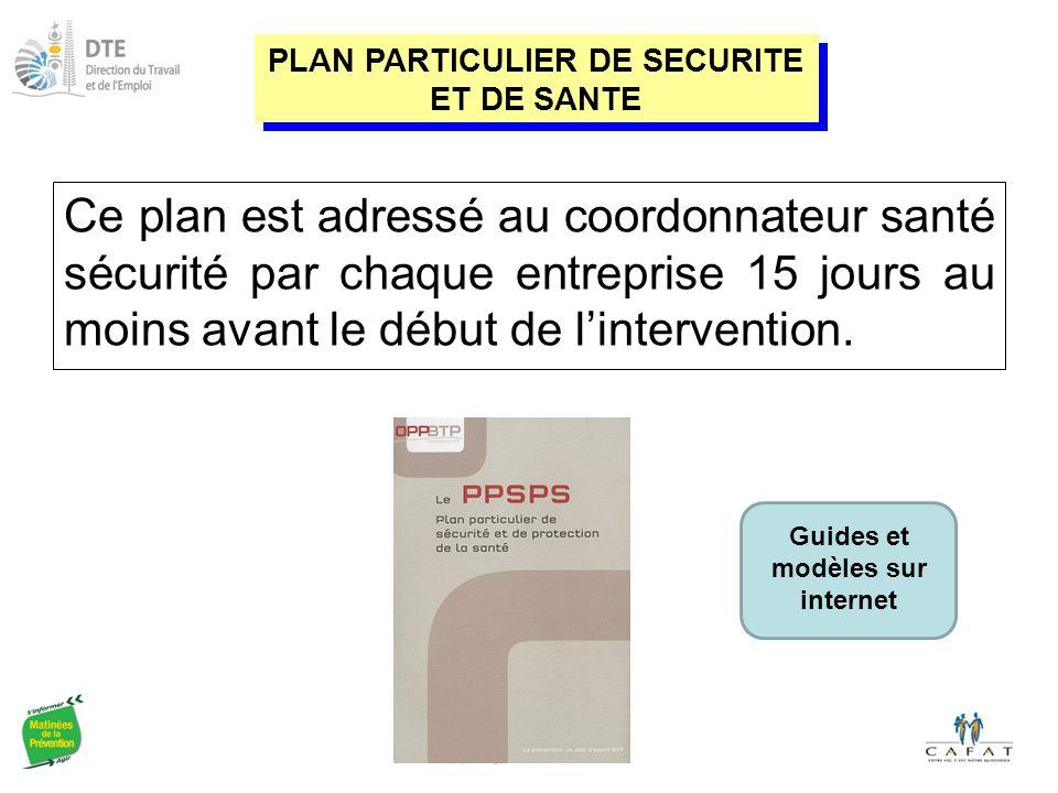Ce plan est adressé au coordonnateur santé sécurité par chaque entreprise 15 jours au moins avant le début de l'intervention.