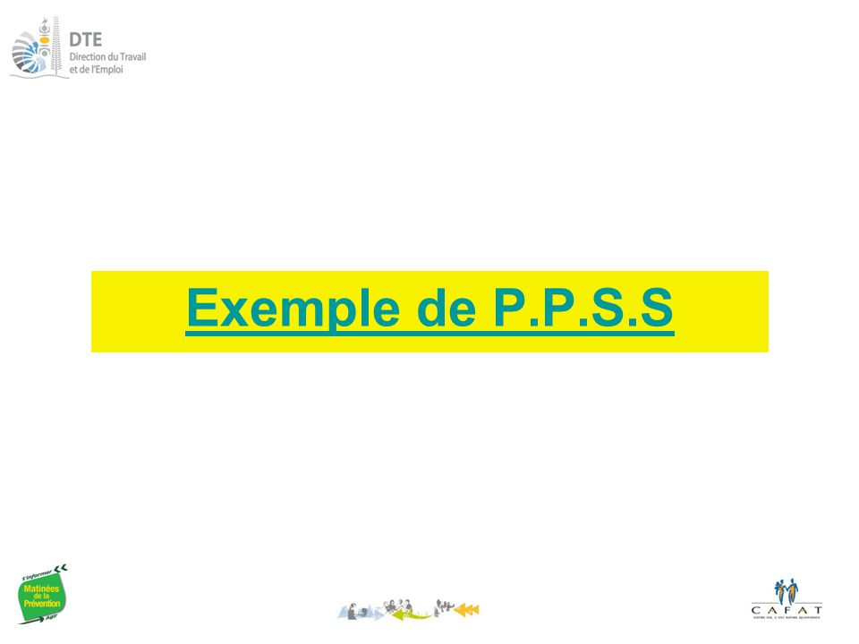Exemple de P.P.S.S