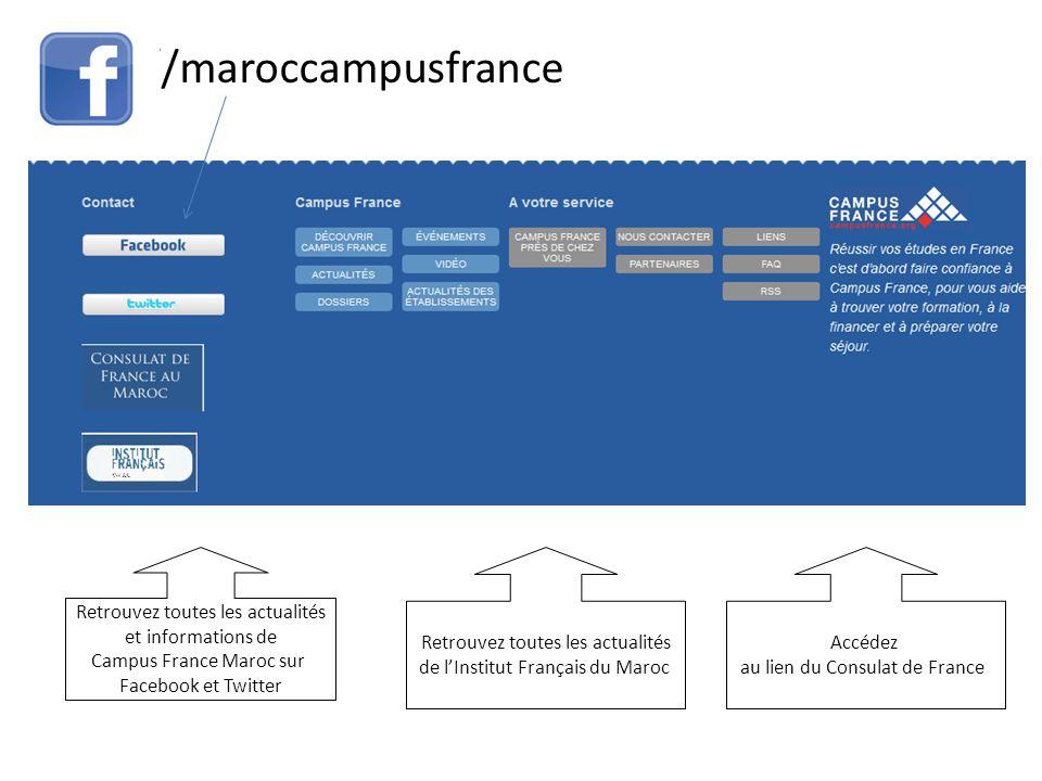 //maroccampusfrance Retrouvez toutes les actualités et informations de Campus France Maroc sur Facebook et Twitter Retrouvez toutes les actualités de