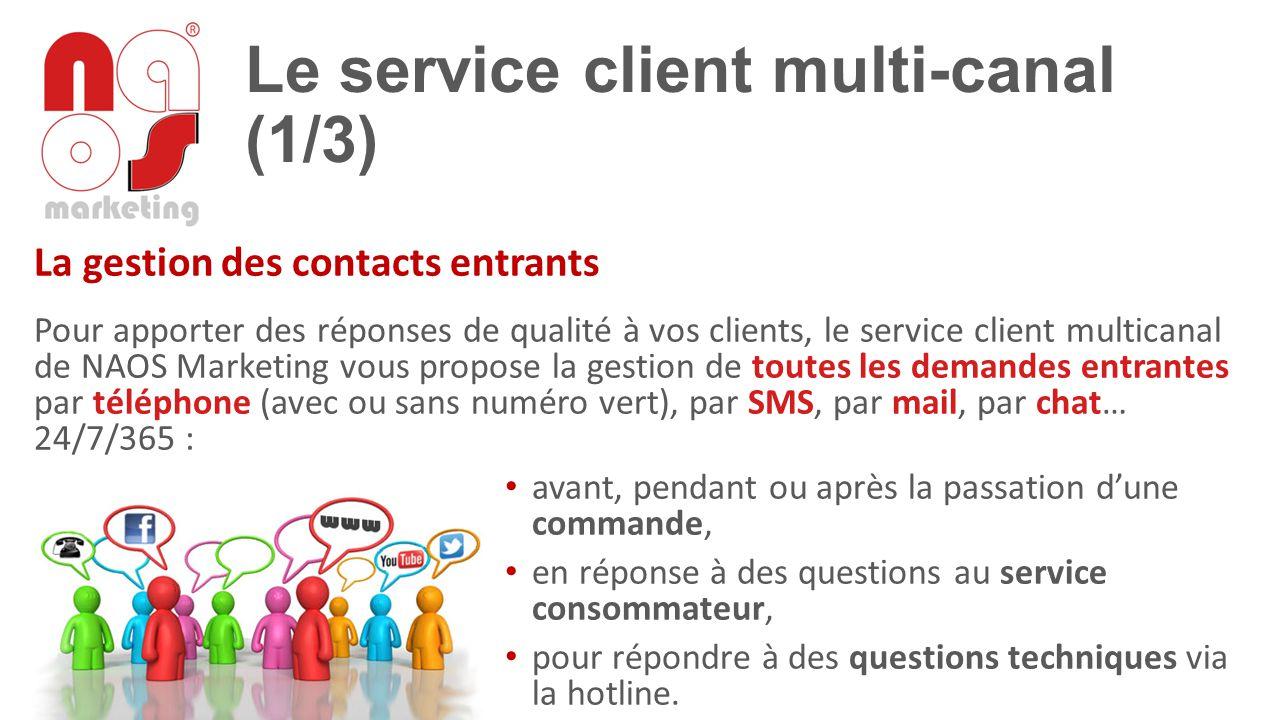 Le service client multi-canal (1/3) La gestion des contacts entrants Pour apporter des réponses de qualité à vos clients, le service client multicanal