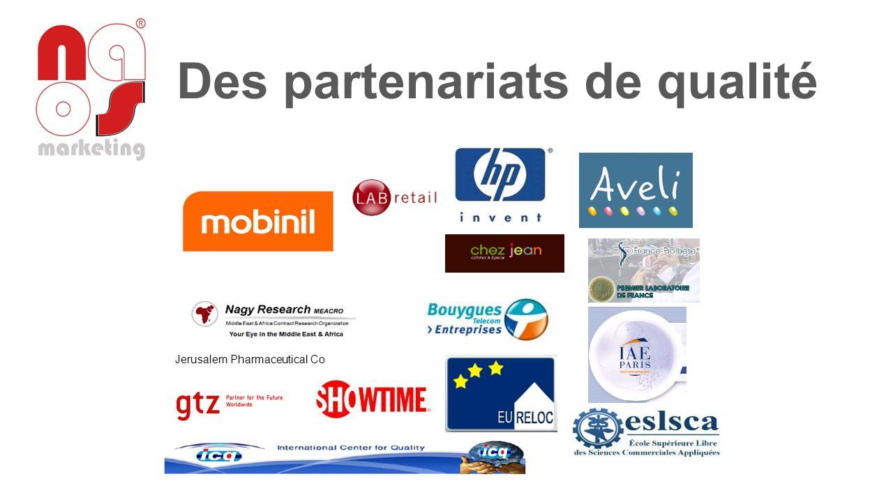 Des partenariats de qualité Jerusalem Pharmaceutical Co