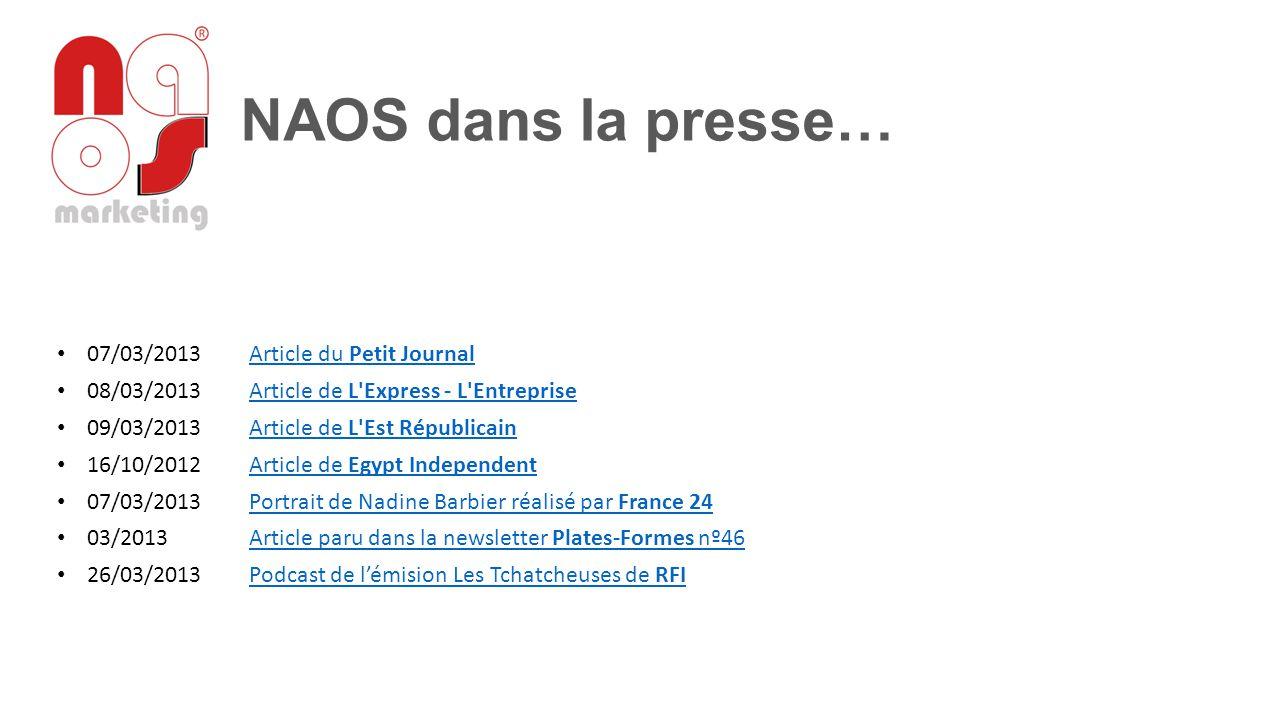 07/03/2013 Article du Petit JournalArticle du Petit Journal 08/03/2013 Article de L'Express - L'EntrepriseArticle de L'Express - L'Entreprise 09/03/20