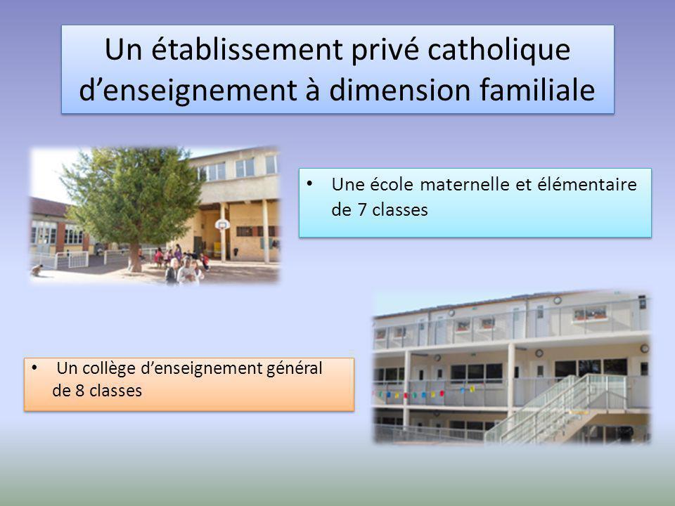 Un collège d'enseignement général de 8 classes Un collège d'enseignement général de 8 classes Un établissement privé catholique d'enseignement à dimen