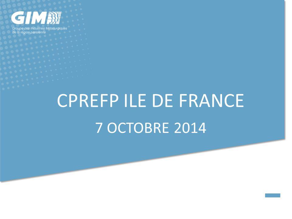 CPREFP ILE DE FRANCE 7 OCTOBRE 2014