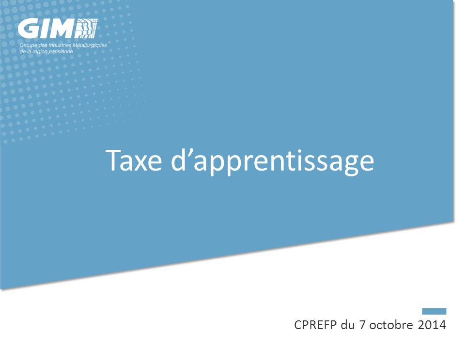CPREFP du 7 octobre 2014 Taxe d'apprentissage