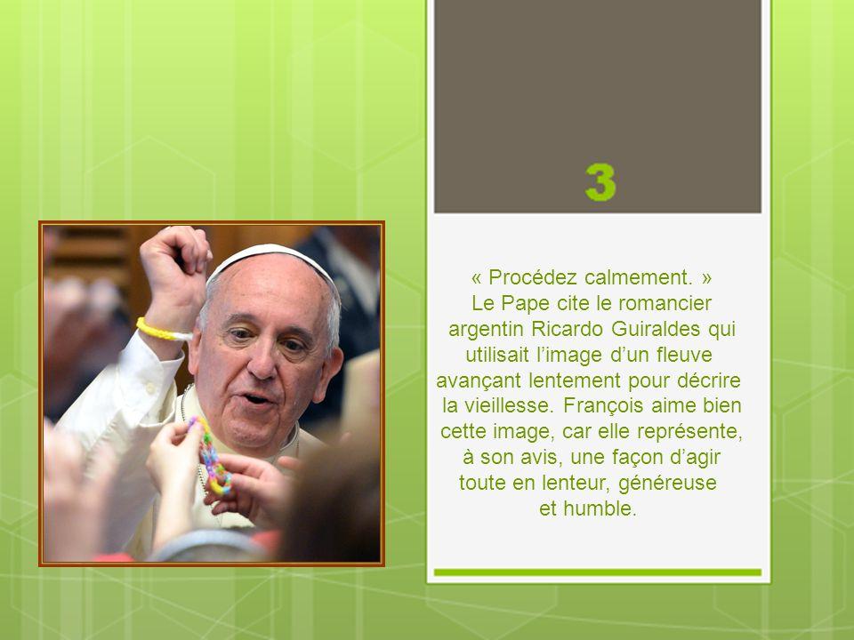 « Donnez généreusement aux autres. » On doit être ouvert et généreux envers les autres, dit le pape François, parce que « si vous vous isolez, vous ri
