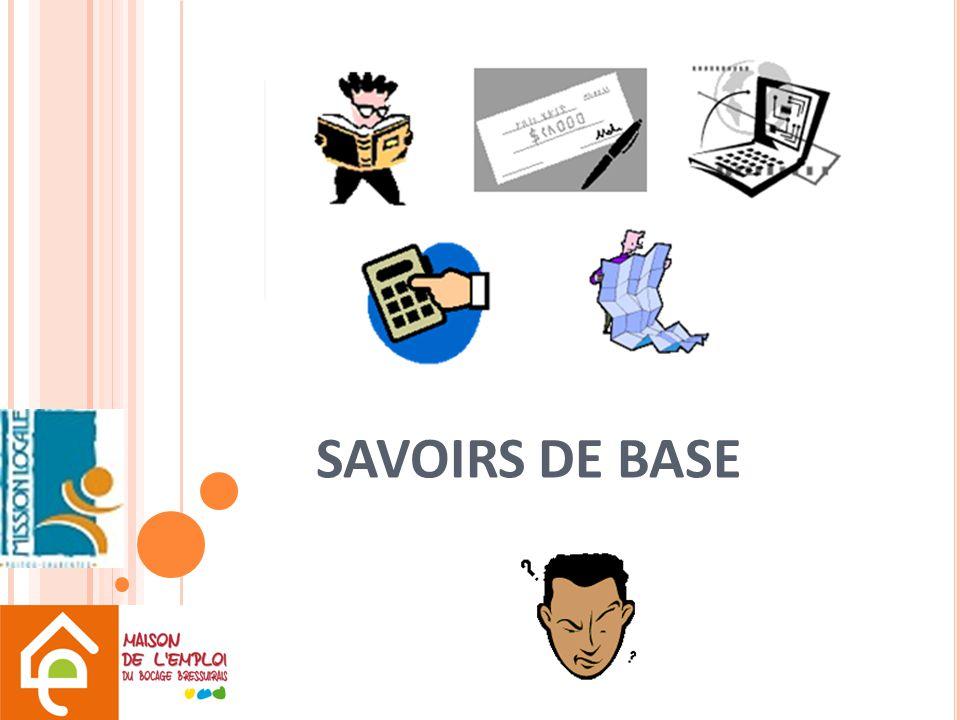SAVOIRS DE BASE