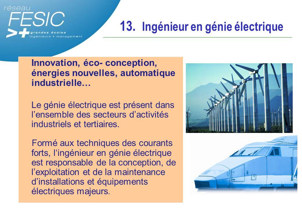 Innovation, éco- conception, énergies nouvelles, automatique industrielle… Le génie électrique est présent dans l'ensemble des secteurs d'activités in