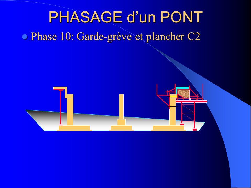 PHASAGE d'un PONT Phase 10: Garde-grève et plancher C2 Phase 10: Garde-grève et plancher C2