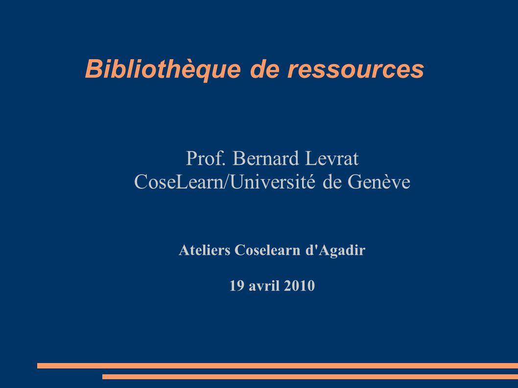 Bibliothèque de ressources Prof.