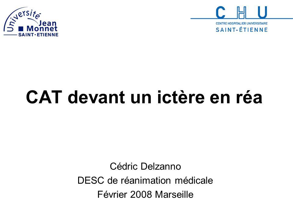 CAT devant un ictère en réa Cédric Delzanno DESC de réanimation médicale Février 2008 Marseille