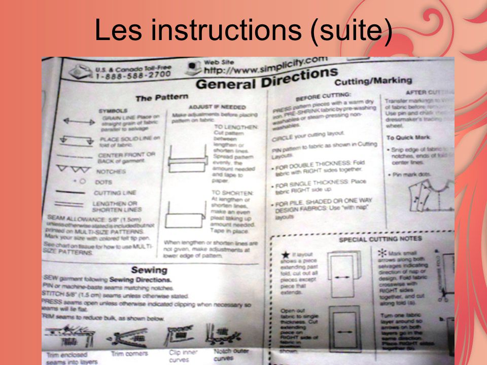 Les instructions (suite)