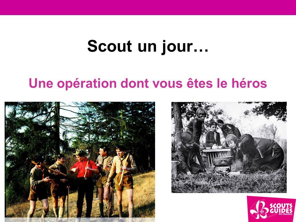Objectifs de cette opération 3 enjeux majeurs  Renouveler l'image du scoutisme dans la société  Rendre compte de ce que le scoutisme a pu apporter à des milliers et des milliers de personnes : le scoutisme a changé des vies  Relancer une dynamique d'animation des anciens de nos mouvements de scoutisme.