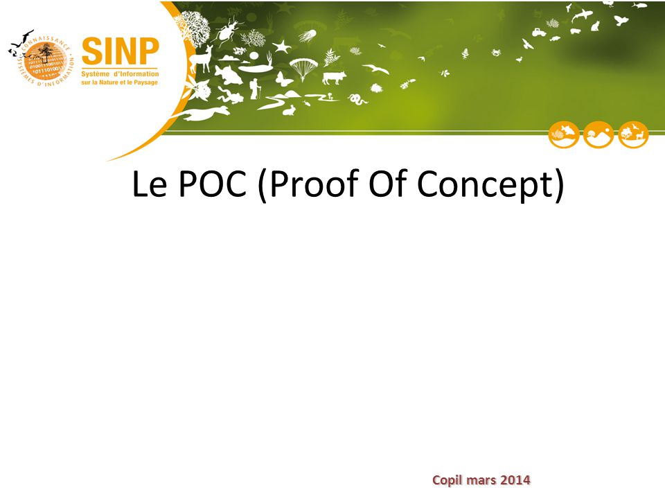 Copil mars 2014 Le POC (Proof Of Concept)